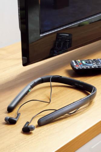 テレビと集音器は無線接続。送信機を兼ねた充電台と接続ケーブル、携帯用ポーチが付属する。約3時間の充電で、集音機能は約24時間、テレビ視聴は約15時間、同スピーカー視聴は約10時間の連続使用が可能。幅171.2×高さ43.3×奥行き100.8mm(本体)、203g(同)。実勢価格3万5000円前後。電話:0120・777・886