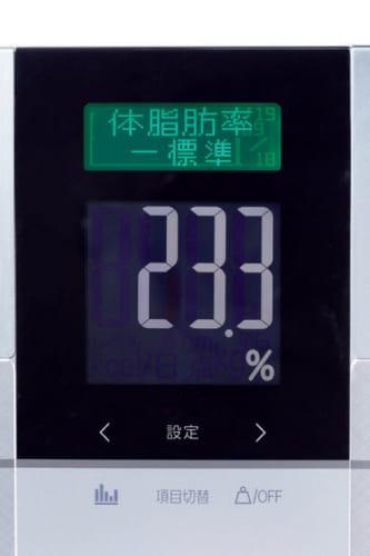 計測結果の判定はバックライトにより分かりやすく表示される。計測項目は全10、31日分の過去データを参照できる。
