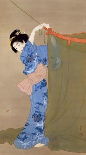 上村松園《蛍》1913(大正2)年 絹本・彩色 山種美術館蔵