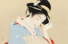 上村松園《春のよそをひ》1936(昭和11)年頃 絹本・彩色 山種美術館蔵