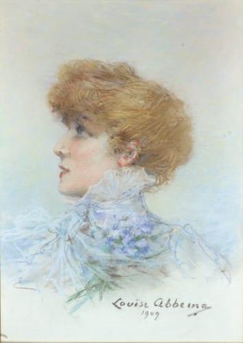 ルイーズ・アベマ《サラ・ベルナール》1909年 エタンプ市美術館蔵