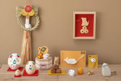 お飾り/信楽焼きの子飾り/こけし/張り子/熊手/一刀彫/枠飾り