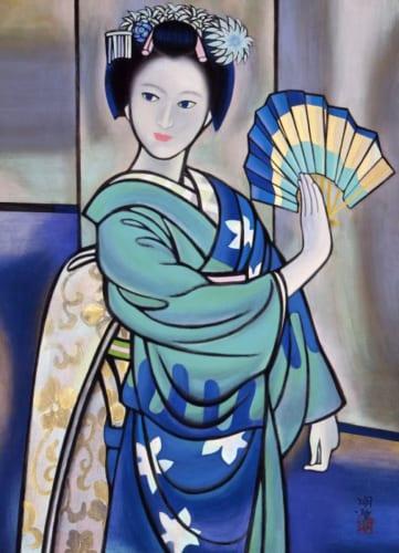 橋本明治《舞》1966(昭和41)年 紙本・彩色 山種美術館蔵