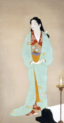 上村松園《砧》1938(昭和13)年 絹本・彩色 山種美術館蔵