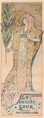 アルフォンス・ミュシャ《ジスモンダ アメリカツアー版》 1895年 リボリアンティークス蔵