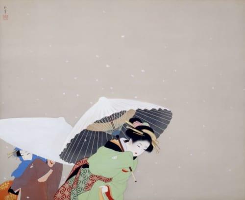 上村松園《牡丹雪》1944(昭和19)年 絹本・彩色 山種美術館蔵