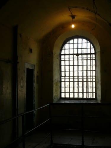ジョセフが収監されていた西ウィング(旧棟)の独房。