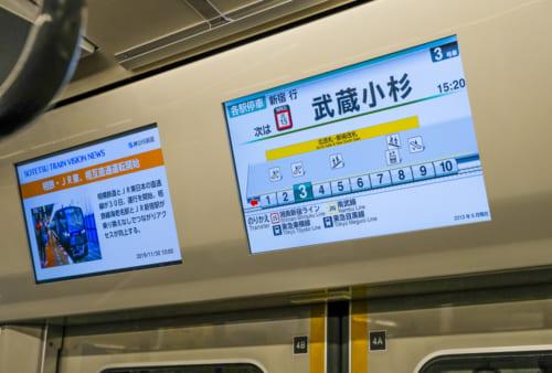 武蔵小杉はJR側最初の駅だ
