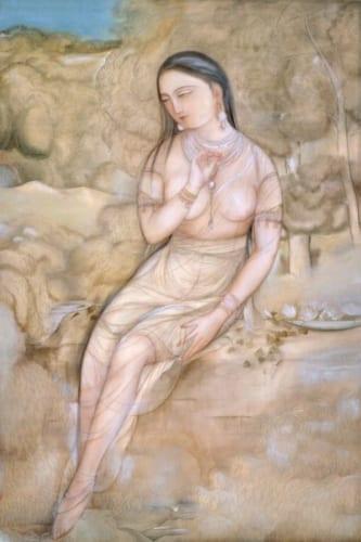 村上華岳《裸婦図》重要文化財 1920(大正9)年 絹本・彩色 山種美術館蔵
