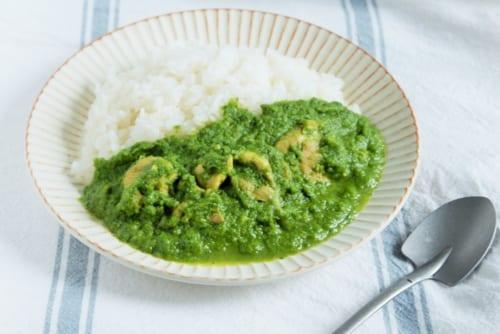 小松菜で作るサグカレー