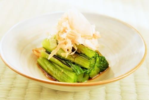 小松菜の昆布締め