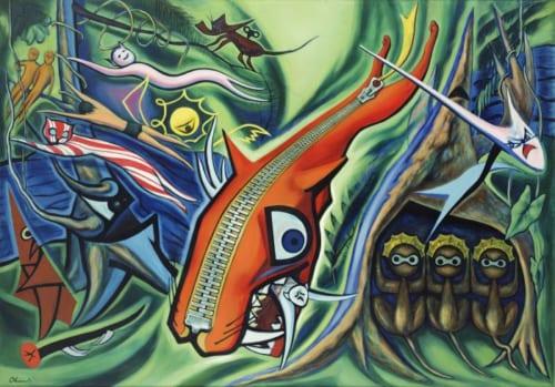 岡本太郎《森の掟》1950年 川崎市岡本太郎美術館蔵