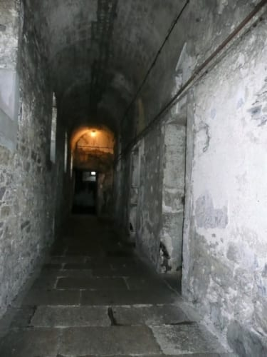 西ウィング(旧棟)の廊下を歩くと、湿気と寒さが骨まで染み込むようだ。