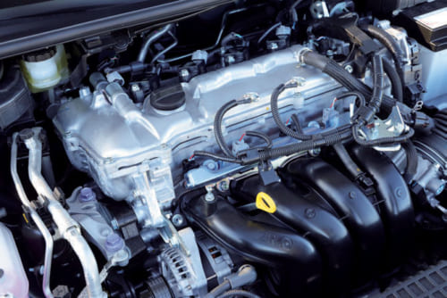 撮影車は1.8Lガソリンエンジン仕様。ほかに1.2Lターボエンジン仕様、1.8Lエンジン+モーターのハイブリッド車が用意されている