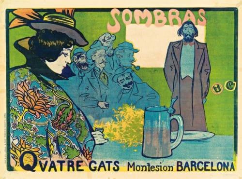 ラモン・カザス《影絵芝居のポスター》1897年 リトグラフ マルク・マルティ・コレクション (C)Marc Marti Col・lectió
