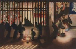 葛飾応為「吉原格子先之図」太田記念美術館蔵