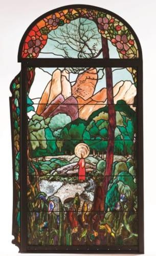 ジュアキム・ミール、リガル・グラネイ社《幼少期のマリア》1910-13年 ステンドグラスカタルーニャ美術館蔵 (C)Museu Nacional d'Art deCatalunya,Barcelona(2019)