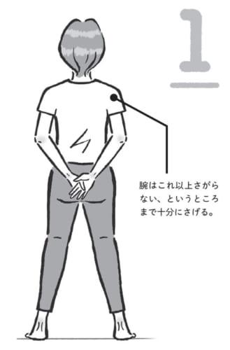 首のストレッチの準備姿勢