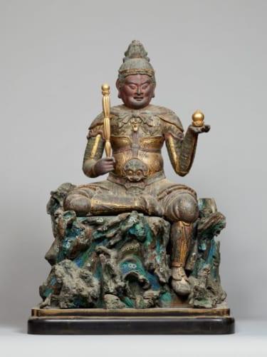 要文化財「毘沙門天坐像」平安時代・12世紀 京都・清凉寺