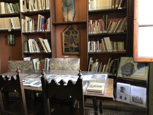 デ・キリコも一時期滞在していたシヴィエロ自宅の書斎