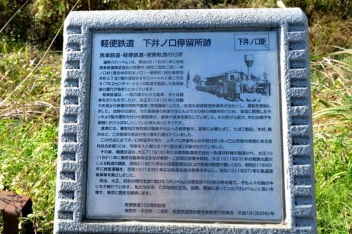 湘南軌道の各駅跡には、かつてをしのぶ案内板も設置されている