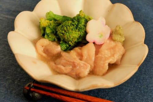 鶏肉と菜の花の治部煮