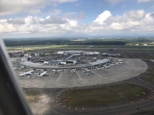 新千歳空港の上空から/著者撮影