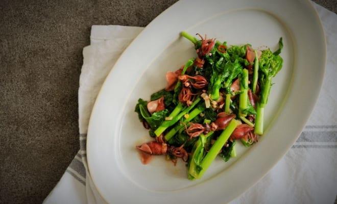 ほたるいかと菜の花のアーリオオーリオ