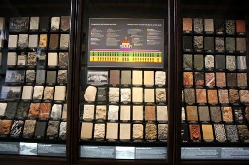 ウィーンの建築物に使われている石材の展示