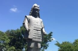 明智光秀像 滋賀県・坂本城址公園