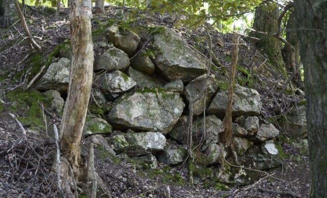 若狭屈指の山城「後瀬山城」石垣