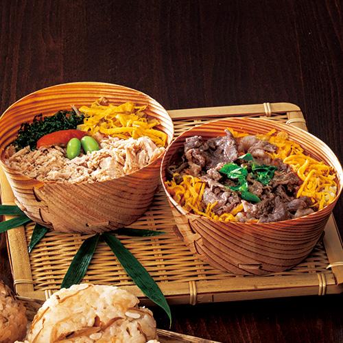 米飯(豊後牛・華の鶏) わっぱめしセット(クールフーズHANA)