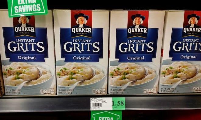 南部以外ではなかなかお目にかかれないグリッツ。これはインスタント商品