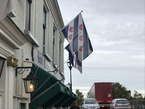 ホテルに掲げられたフリースラント州の旗