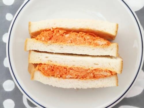 人参とツナのサンドイッチ