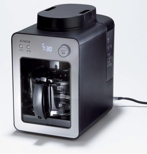 コンパクトゆえ場所を取らず、音も静かで使い勝手がいい。着脱式水タンクは丸洗いができタンク内部を清潔に保つことができる。サーバーはガラス製。幅162×奥行き280×高さ264mm、2.2kg(サーバー含む)。問い合わせ:シロカサポートセンター 0570・001・469 購入は家電量販店、オンラインショップ(https://www.siroca.co.jp/)で。
