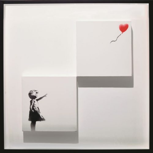 バンクシー《風船と少女》Girl with Balloon(Diptych)2006年